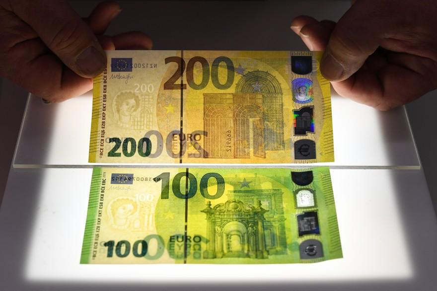 BCE pune în circulație noile bancnote de 100 și 200 de euro