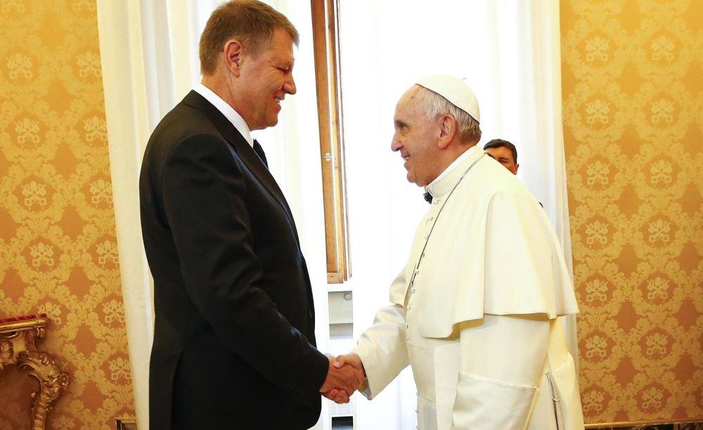 Klaus Iohannis discurs în fața Papei la Cotroceni. A amintit de votul românilor din 26 mai