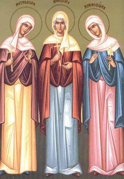 Calendar creștin-ortodox, Sfintele Mucenițe Minodora, Mitrodora și Nimfodora. 4