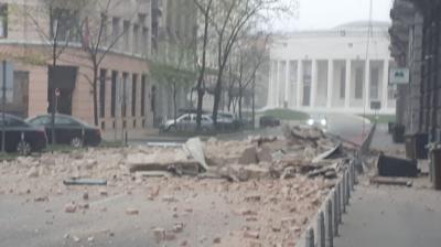 Cutremure de magnitudinea 5,3 şi 5,0 la Zagreb, soldate cu pagube materiale importante. FOTO 1
