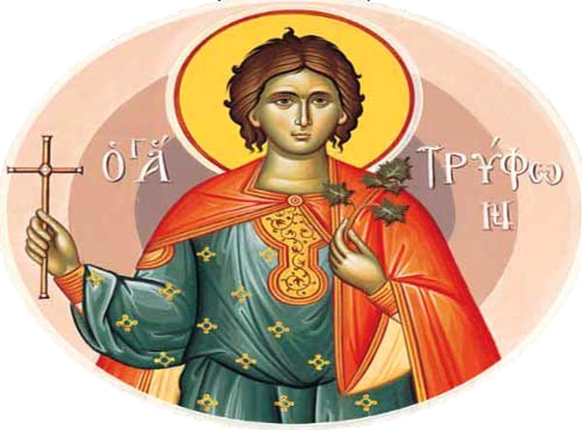 Calendar creștin-ortodox, 1 februarie, 2021. Sfântul Mucenic Trifon 1