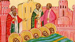 Calendar creștin-orotodox,22 februarie 2021. Aflarea moaștelor sfinților mucenici din Evghenia 14