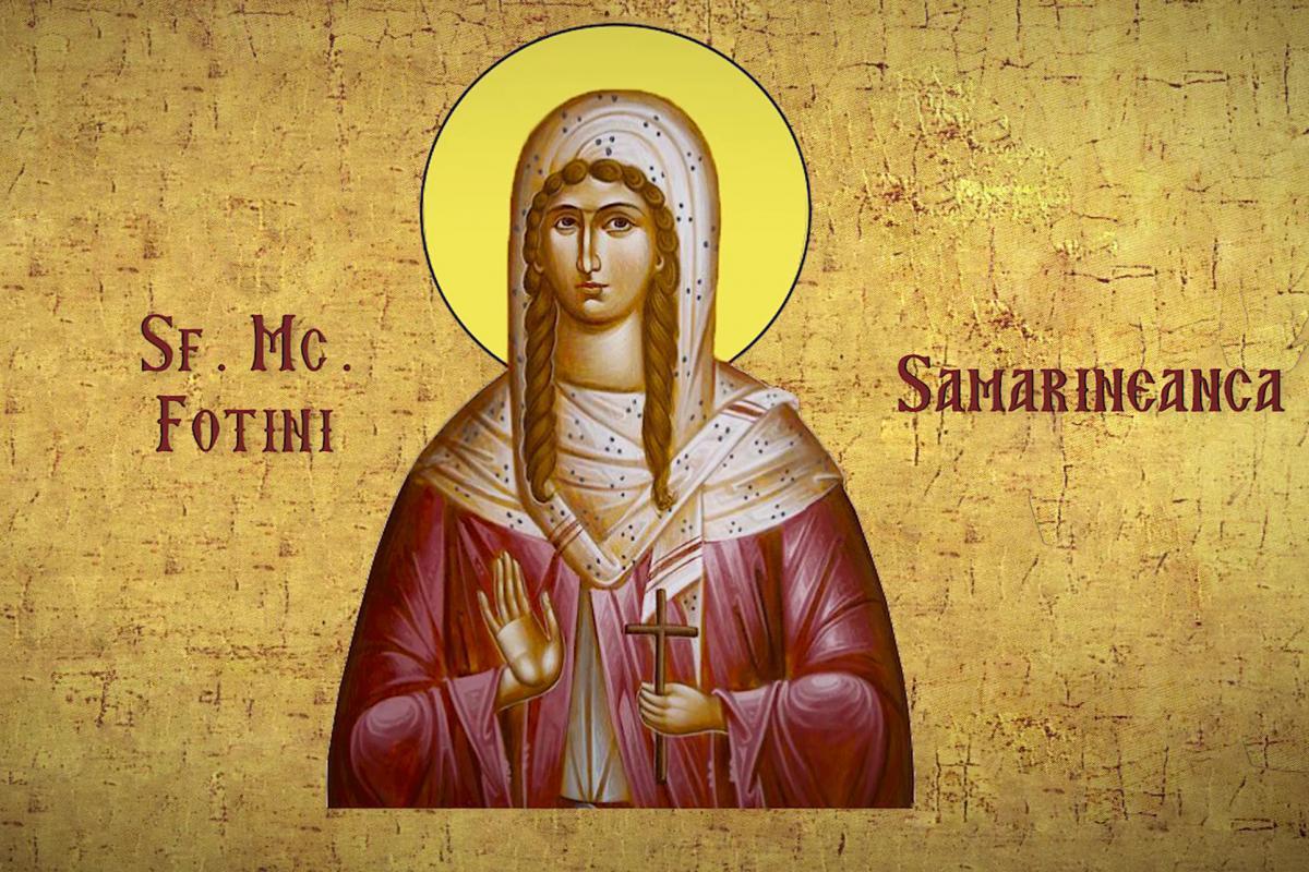 Calendar creștin-ortodox,26 februarie, 2021. Sfântul Porfirie, Sfânta Fotini,samarineanca 5