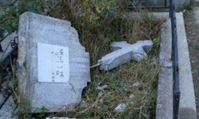 Dosar penal pentru profanare de morminte într-un cimitir din Cluj-Napoca. 30 de morminte au fost vandalizate 19