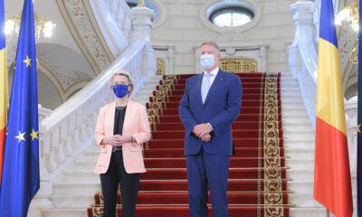 Şefa Comisiei Europene, primită la Palatul Cotroceni. Întrevedere cu premierul Florin Cîțu. Vizită la Spitalul Uniersitar București. VIDEO 33